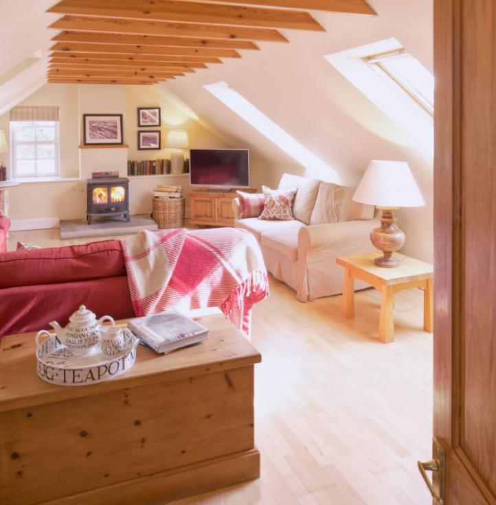 Cottage snug, wood burning stove, self catering cottage, Scotland, Edinburgh, Pentland Hills
