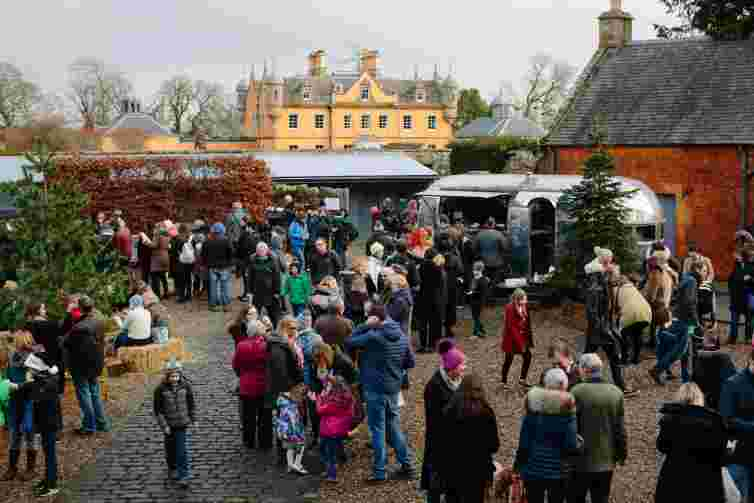 Jupiter artland Christmas fair, near Edinburgh