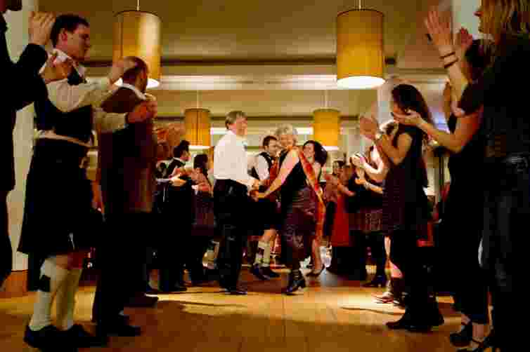 Scottish cafe ceilidh burns night Edinburgh