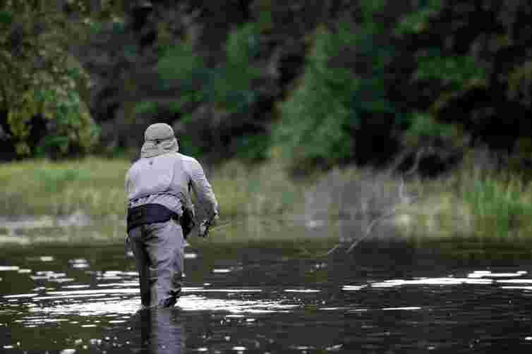 Fishing near Edinburgh, Scotland, fly fishing, tweed