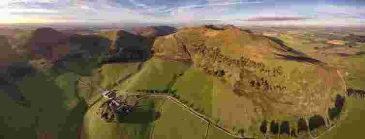 Pentland hills in summer, Eastside farm, Eastside Cottages, hill farm, Edinburgh, Scotland, Pentland Hills Regional Park