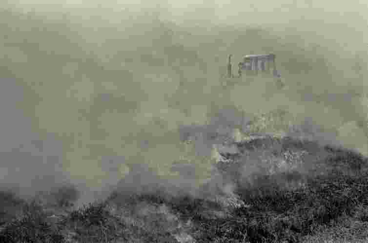 Muirburn, heather burning, Scotland, moor management, fire, gamekeeper, farmer, tractor