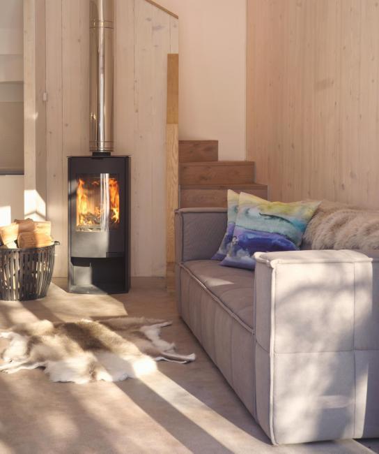 Cool cottage near Edinburgh, Architect designed holiday cottage, Pentland Hills, Edinburgh, Scotland, Scandi style with wood burning stove