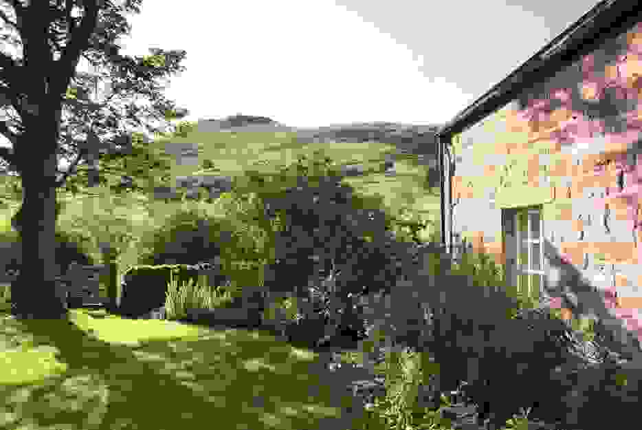Fantastic views of the Scottish landscape and heather hills right from the holiday cottage garden