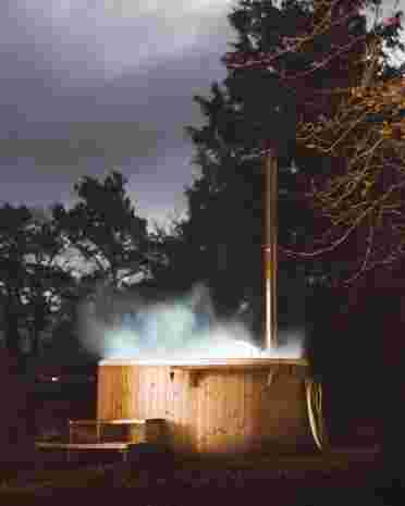 Spend and evening under the stars in the Woodsheds wood-fired hot tub (photo credit Hidden Scotland)